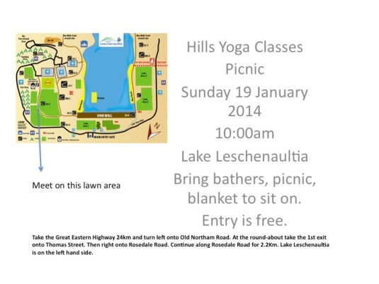 Hills Yoga Classes Picnic